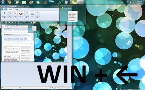Atajos del teclado Windows 7