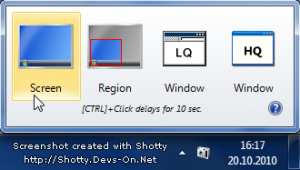 Shotty, capturar pantalla en windows 7