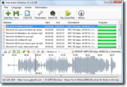 Extraer sonidos de videos con Free Audio Extractor
