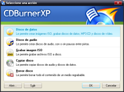 Alternativa a Windows para grabar discos. CDBurner Pro
