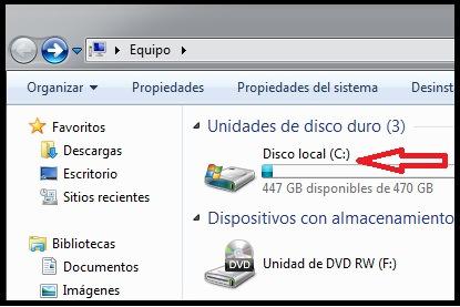 borrar archivos temporales windows 7