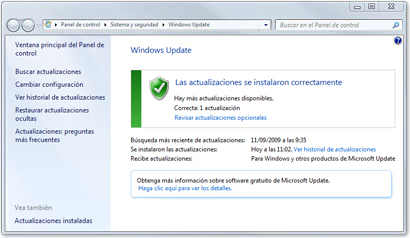 actualizaciones windows 7