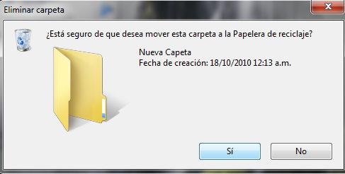 eliminar carpeta windows 7